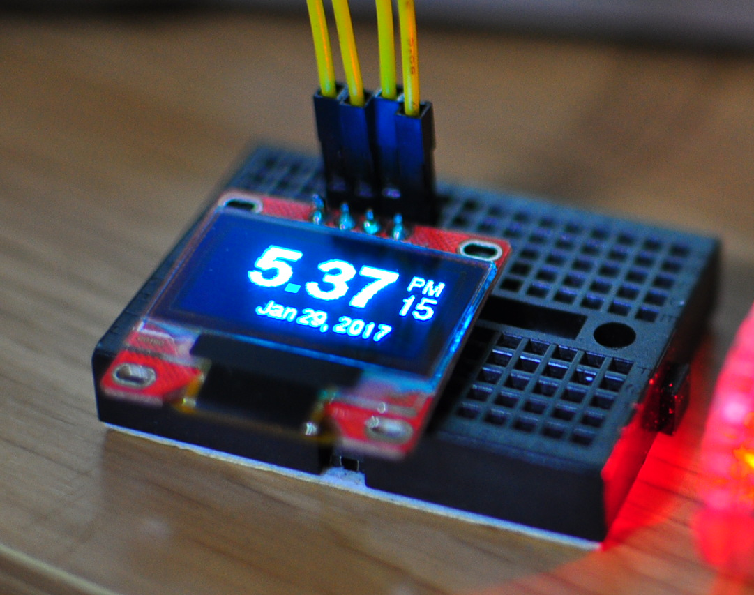 How to make an clock for a raspberry pi with an OLED display