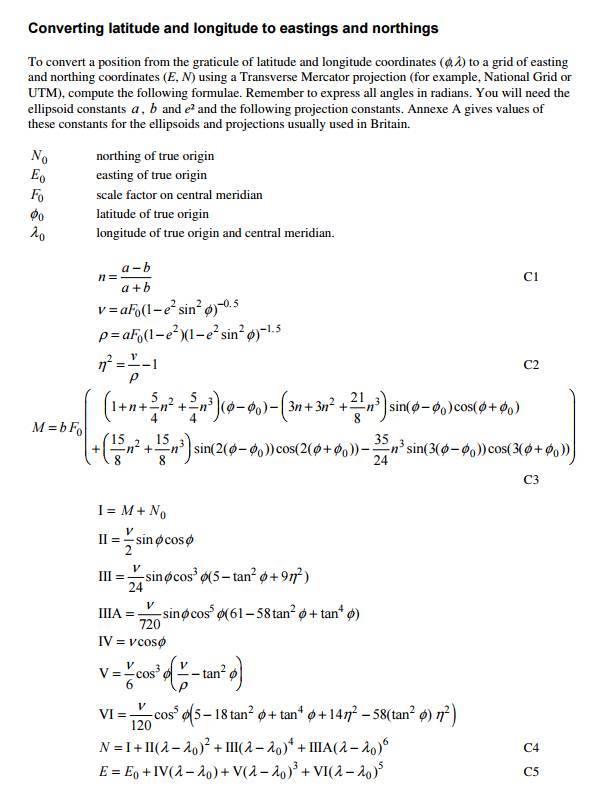Excel: How to calculate distances between longitude