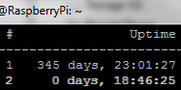 Raspberry Pi - record uptime
